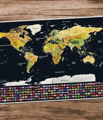 World scratch off map with country flags travel bible shop premium world scratch map with flags gumiabroncs Choice Image