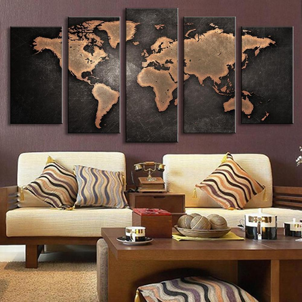 5 panel world map oil painting travel bible shop world map oil painting sale gumiabroncs