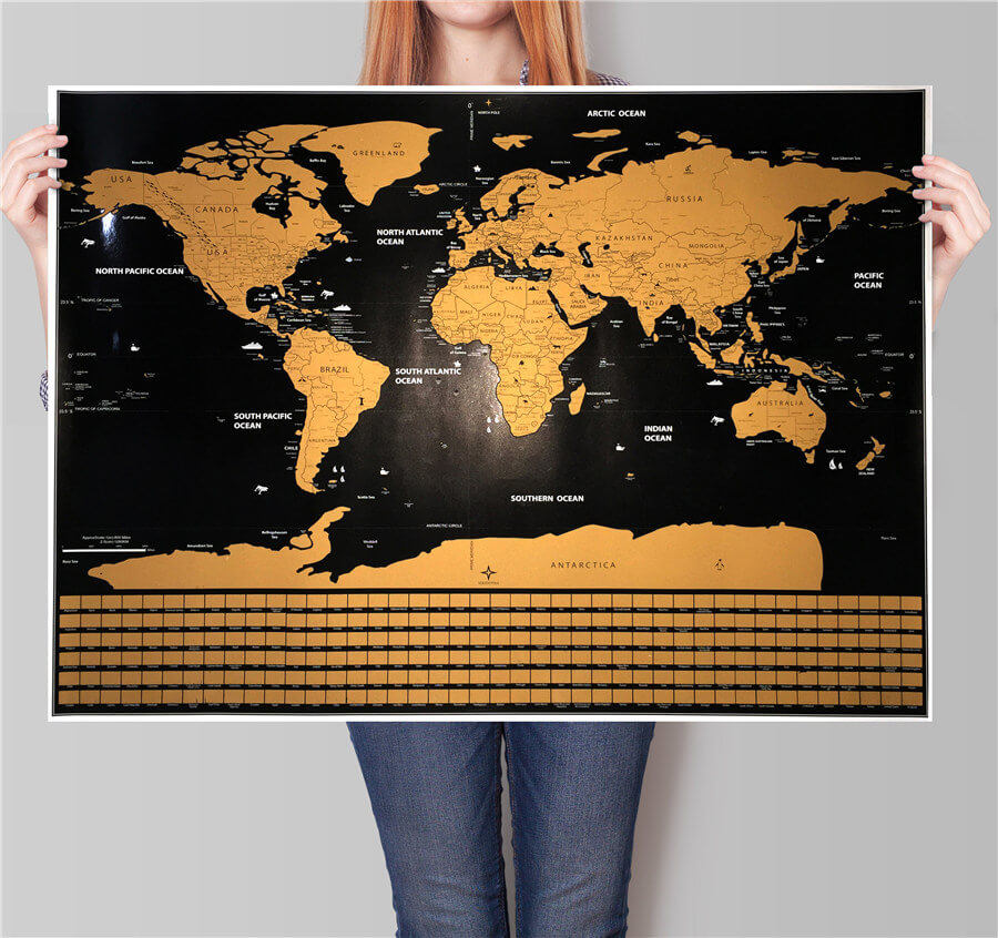 Premium world scratch map with flags travel bible shop gumiabroncs Choice Image