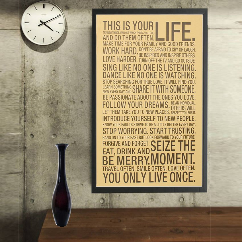 This Is Your Life Wall Poster