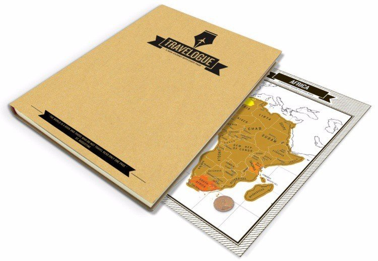 Travel Scratch Map Journal