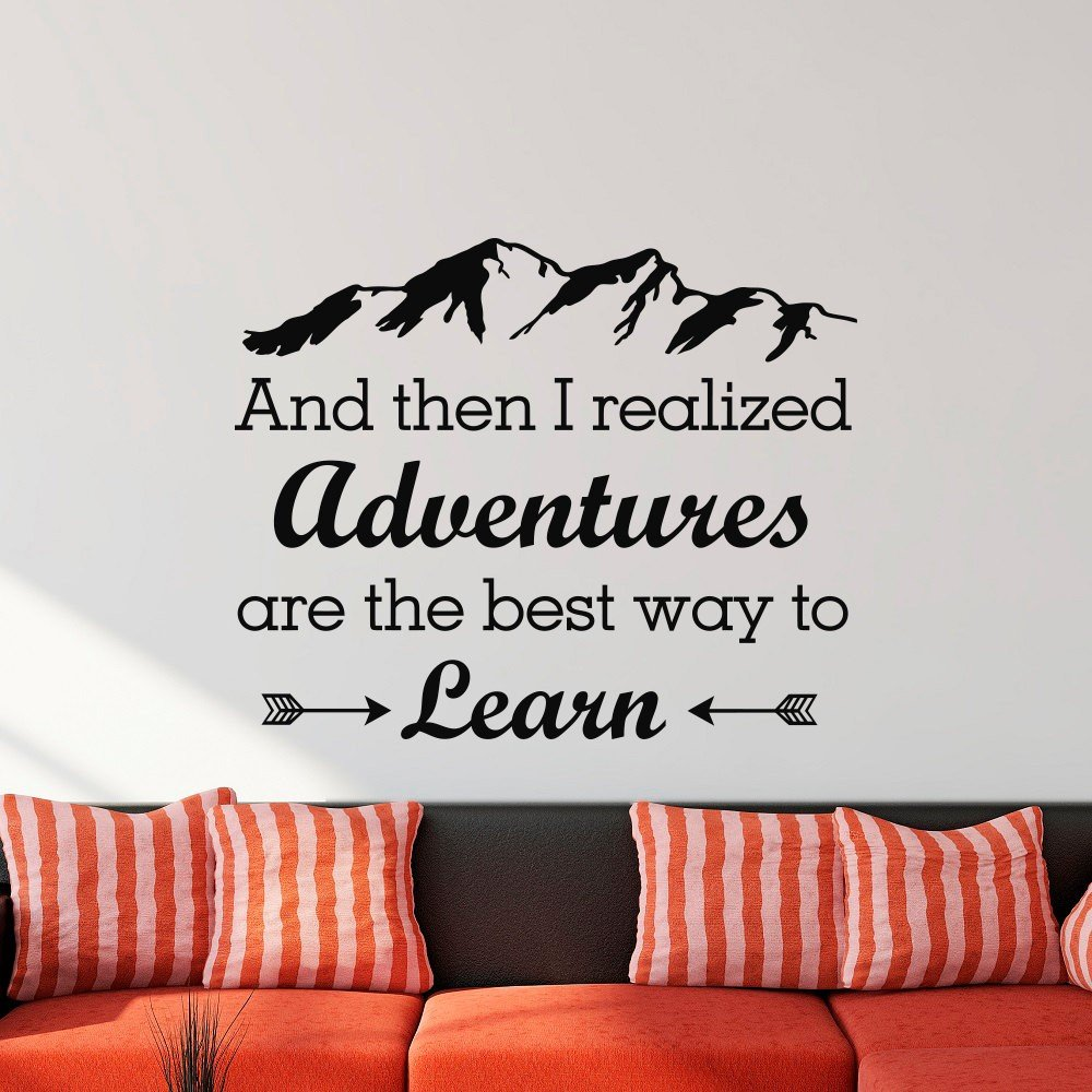 Wall Sticker - Adventures Are The Best Way to Learn