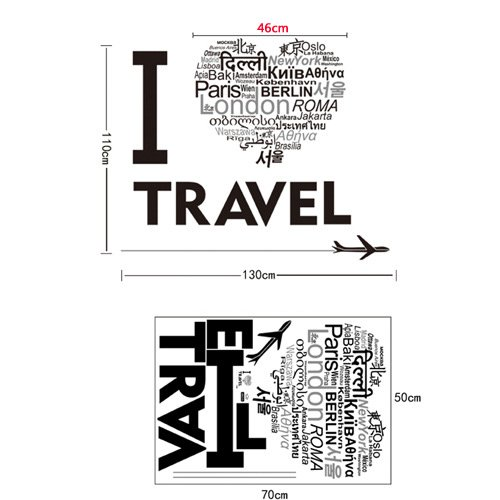 I Love Travel Wall Sticker