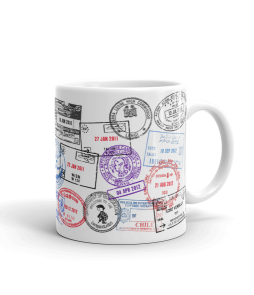 Custom Passport Stamp Coffee Mug