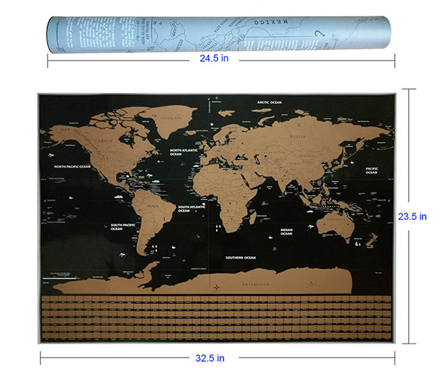Premium world scratch map with flags travel bible shop gumiabroncs Image collections
