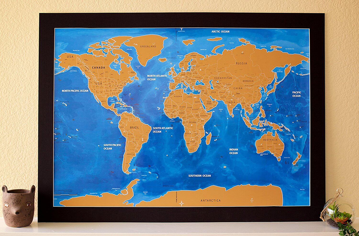 World scratch map blue ocean edition travel bible shop sale out of stock gumiabroncs Image collections