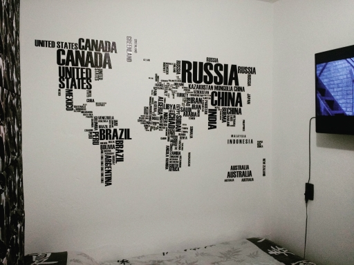 Word world map vinyl wall sticker travel bible shop its good great sticker excellent quality and pretty large the ultimate sticker for a travel freeaks bedroom gumiabroncs Image collections