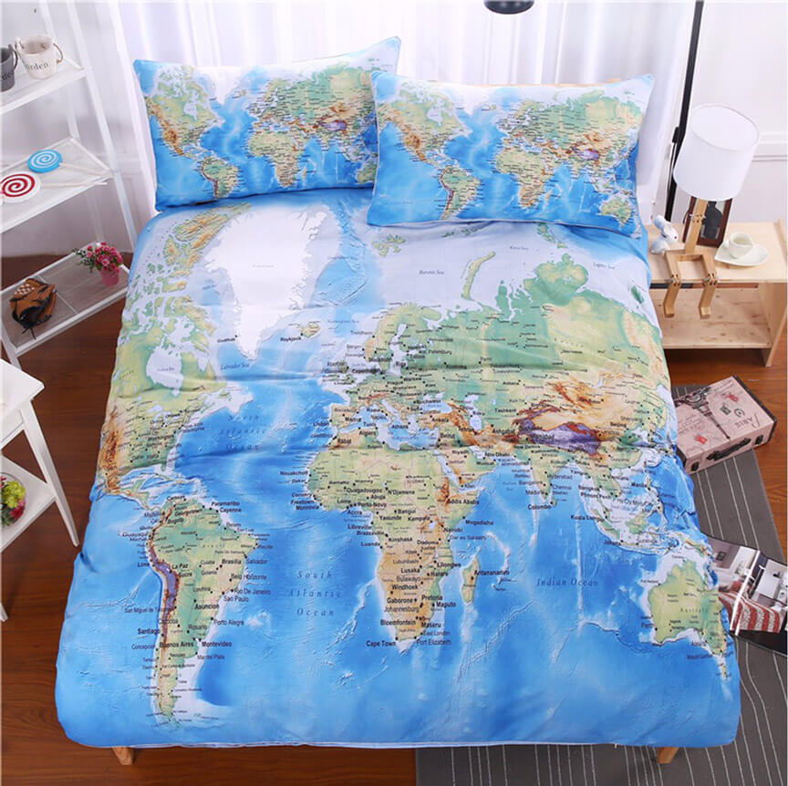 World map bedding set travel bible shop world map bedding set gumiabroncs Gallery