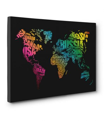 Travel bible shop cool gift ideas for travellers world map word cloud canvas print gumiabroncs Image collections