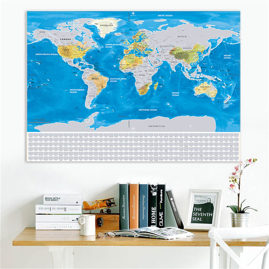 Silver scratch map with flags and us states travel bible shop sale gumiabroncs Choice Image