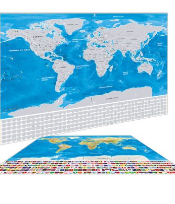 Premium world scratch map with flags travel bible shop silver scratch map with flags and us states gumiabroncs Choice Image
