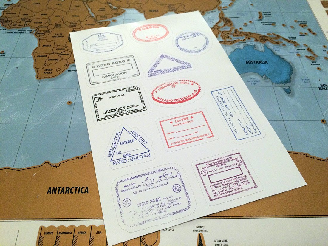 Custom Passport Stamp Stickers Travel Bible Shop