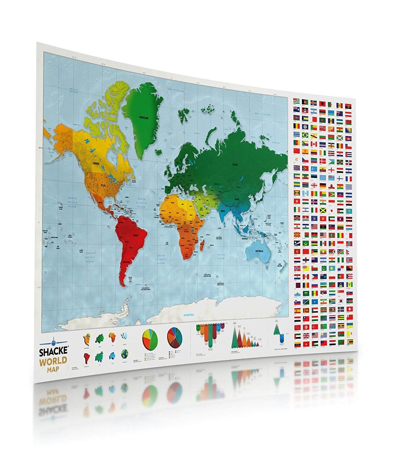 Map Of World Flags.World Scratch Off Map With Country Flags Travel Bible Shop