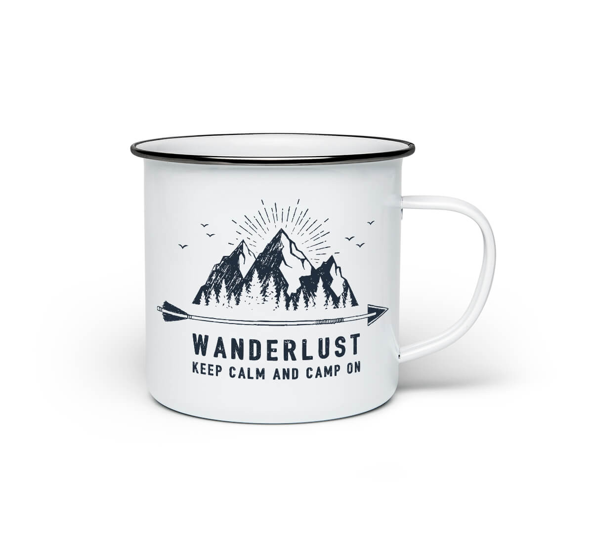 Explore More Campfire Mug Wanderlust Travel Lover Enamel Coated Camper Coffee Cup w//Handle Tin Enamelware Stainless Steel Traveler Camp Fire Metal Coated Camping Hiking Trip Gift 12oz Digibuddha
